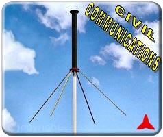 Protel ARO313XZ Antenna omnidirezionale ground plane per misure banda civile 154 174 MHz