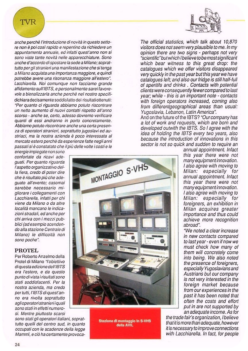 Stampa Protel Antenne TVR Magazine 11-1990